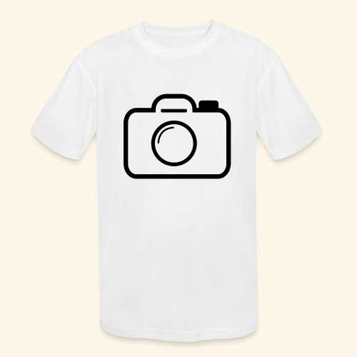 Camera - Kids' Moisture Wicking Performance T-Shirt