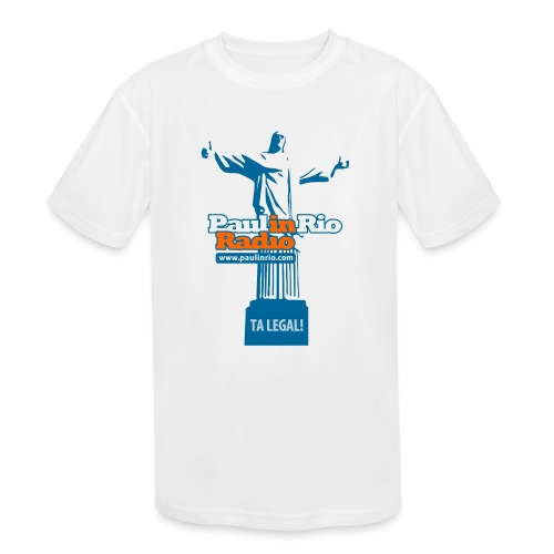 Paul in Rio Radio - The Thumbs up Corcovado #2 - Kids' Moisture Wicking Performance T-Shirt