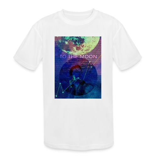 DOGE TO THE MOON - Kids' Moisture Wicking Performance T-Shirt