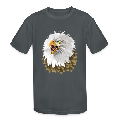 Big, Bold Eagle - Kids' Moisture Wicking Performance T-Shirt