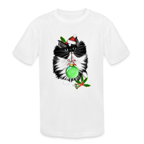 A Tuxedo Merry Christmas - Kids' Moisture Wicking Performance T-Shirt