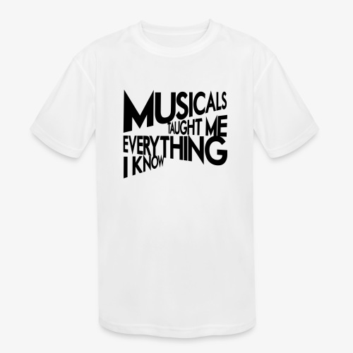 MTMEIK Black Logo - Kids' Moisture Wicking Performance T-Shirt