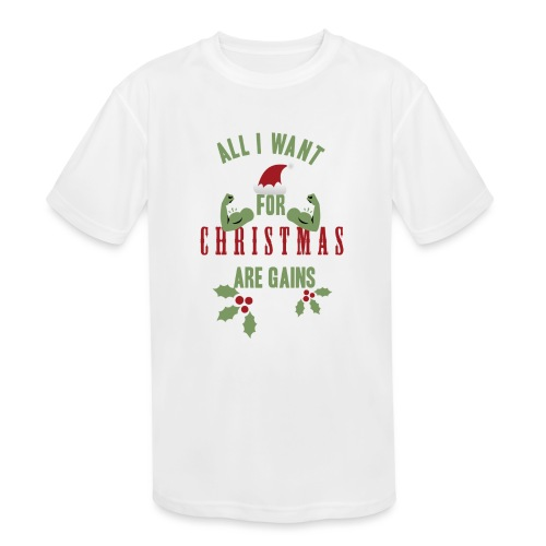 All i want for christmas - Kids' Moisture Wicking Performance T-Shirt