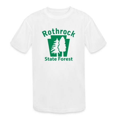 Rothrock State Forest Keystone (w/trees) - Kids' Moisture Wicking Performance T-Shirt