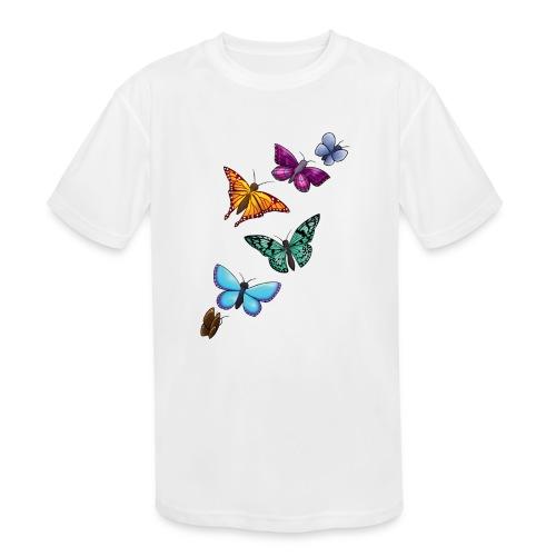 butterfly tattoo designs - Kids' Moisture Wicking Performance T-Shirt