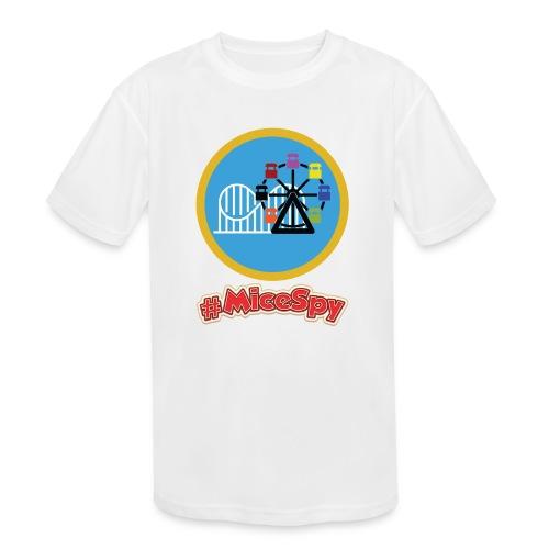 Paradise Pier Explorer Badge - Kids' Moisture Wicking Performance T-Shirt