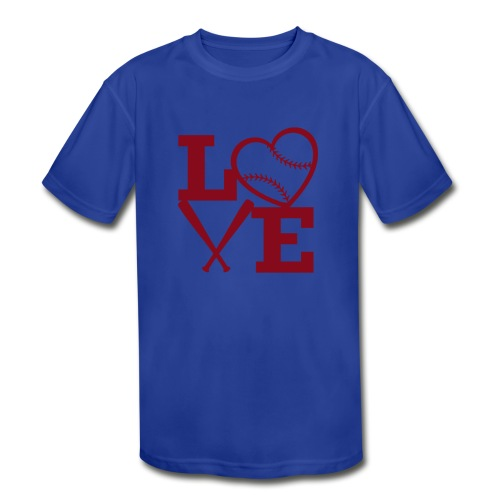 Love baseball - Kids' Moisture Wicking Performance T-Shirt