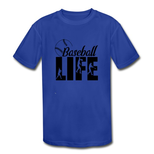 Baseball life - Kids' Moisture Wicking Performance T-Shirt