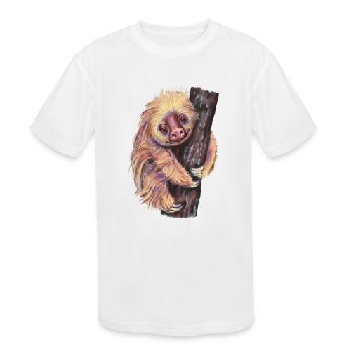 Sloth - Kids' Moisture Wicking Performance T-Shirt