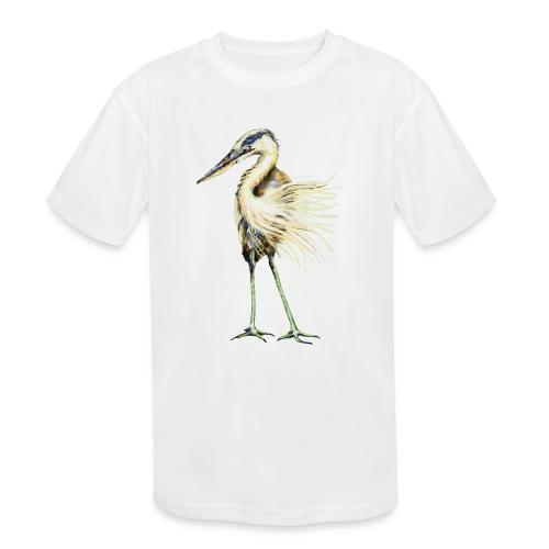 Great Blue Heron - Kids' Moisture Wicking Performance T-Shirt