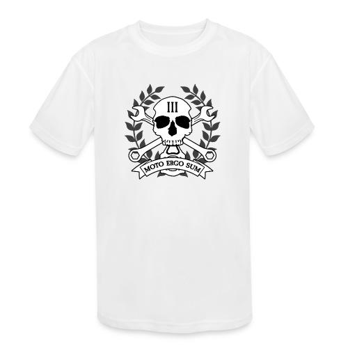 Moto Ergo Sum - Kids' Moisture Wicking Performance T-Shirt
