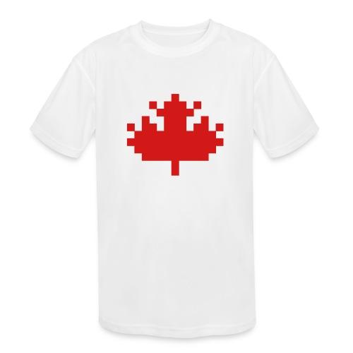 Pixel Maple Leaf - Kids' Moisture Wicking Performance T-Shirt