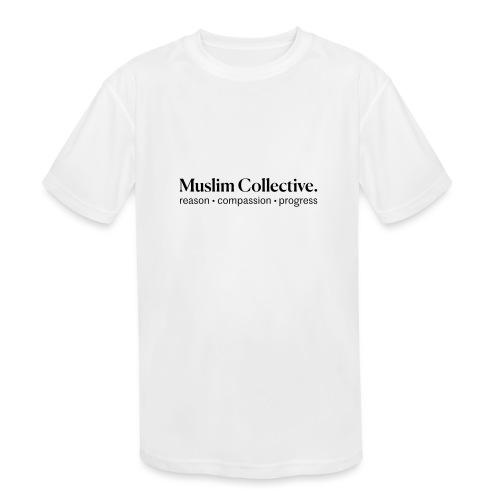 Muslim Collective Logo + tagline - Kids' Moisture Wicking Performance T-Shirt