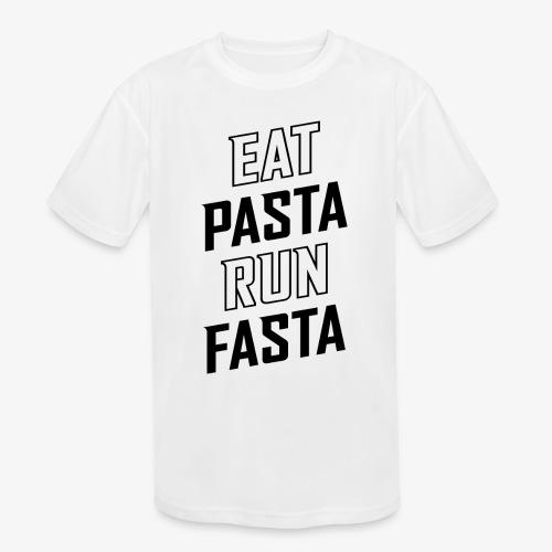 Eat Pasta Run Fasta v2 - Kids' Moisture Wicking Performance T-Shirt