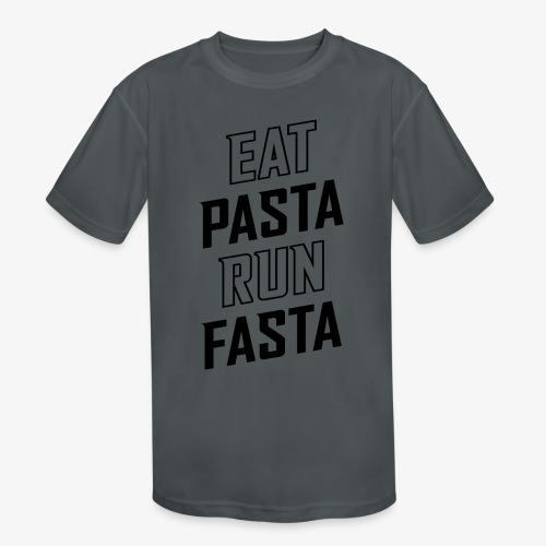 Eat Pasta Run Fasta v2 - Kids' Moisture Wicking Performance T-Shirt