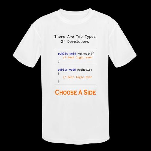 Code Styling Preference Shirt - Kids' Moisture Wicking Performance T-Shirt