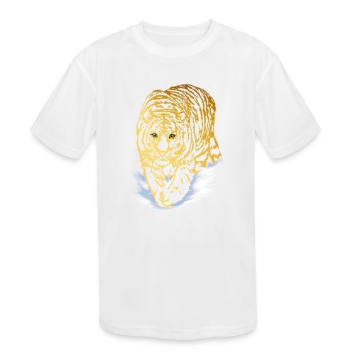 Golden Snow Tiger - Kids' Moisture Wicking Performance T-Shirt