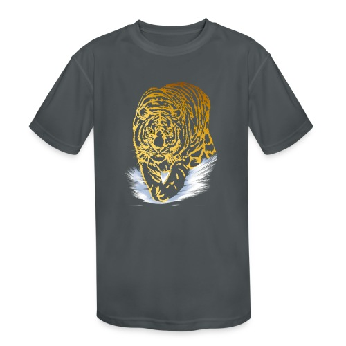 Golden Snow Tiger - Kids' Moisture Wicking Performance T-Shirt
