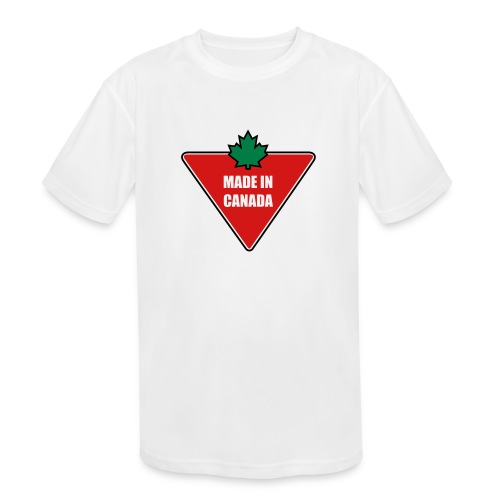 Made in Canada Tire - Kids' Moisture Wicking Performance T-Shirt