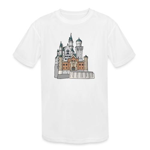 Neuschwanstein Castle, Bavaria - Kids' Moisture Wicking Performance T-Shirt