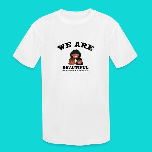 You are Beautiful Black Woman - Kids' Moisture Wicking Performance T-Shirt