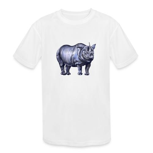 One horned rhino - Kids' Moisture Wicking Performance T-Shirt