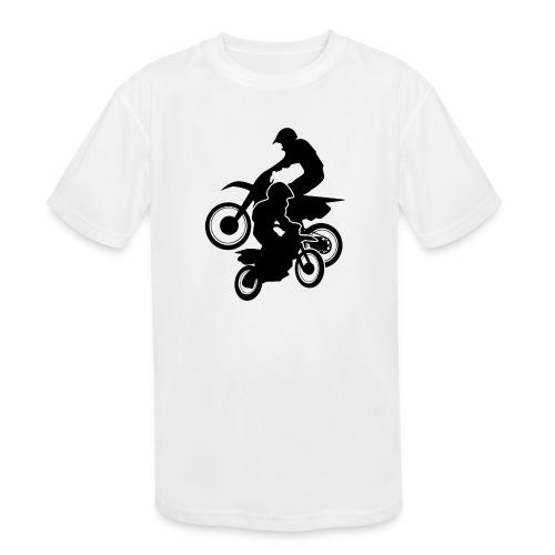 Motocross Dirt Bikes Off-road Motorcycle Racing - Kids' Moisture Wicking Performance T-Shirt