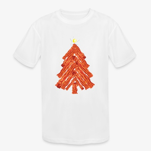 Funny Bacon and Egg Christmas Tree - Kids' Moisture Wicking Performance T-Shirt