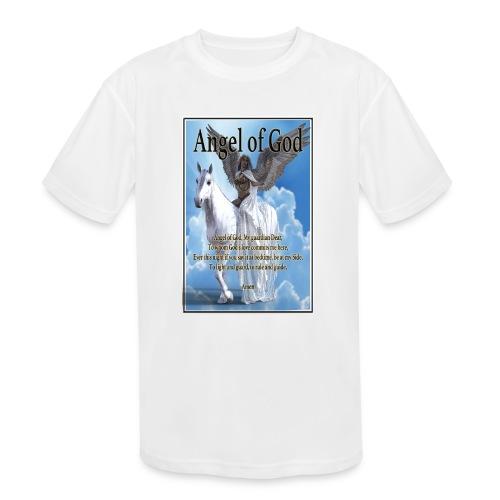 Angel of God, My guardian Dear (version with sky) - Kids' Moisture Wicking Performance T-Shirt