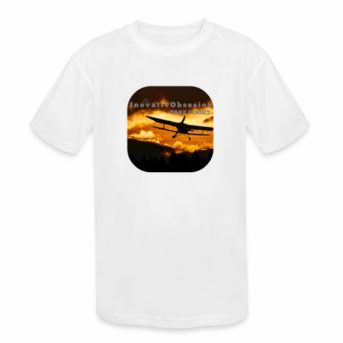 "InovativObsesion ""TAKE FLIGHT"" apparel - Kids' Moisture Wicking Performance T-Shirt"
