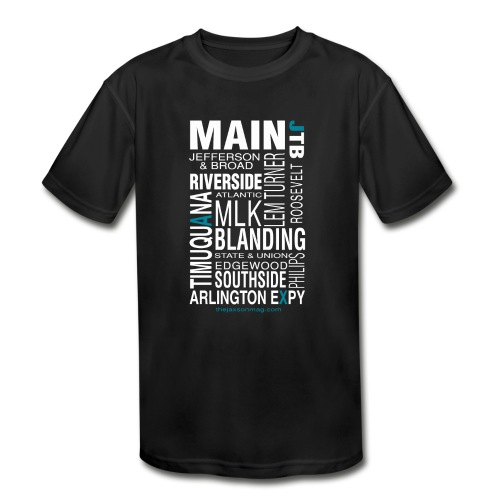 Jacksonville Streets - Kids' Moisture Wicking Performance T-Shirt