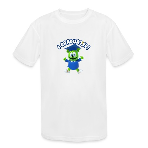 I Graduated! Gummibar (The Gummy Bear) - Kids' Moisture Wicking Performance T-Shirt
