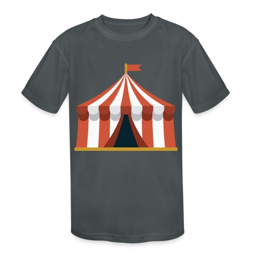 Striped Circus Tent - Kids' Moisture Wicking Performance T-Shirt