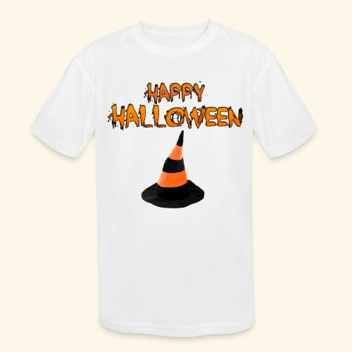 HAPPY HALLOWEEN WITCH HAT TEE - Kids' Moisture Wicking Performance T-Shirt