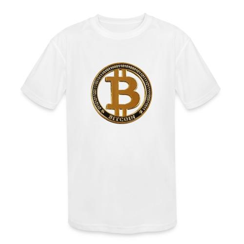 Bitcoin - Kids' Moisture Wicking Performance T-Shirt