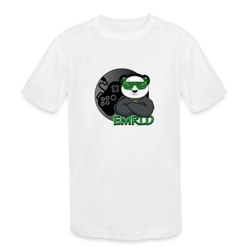 Emerald Logo - Kids' Moisture Wicking Performance T-Shirt