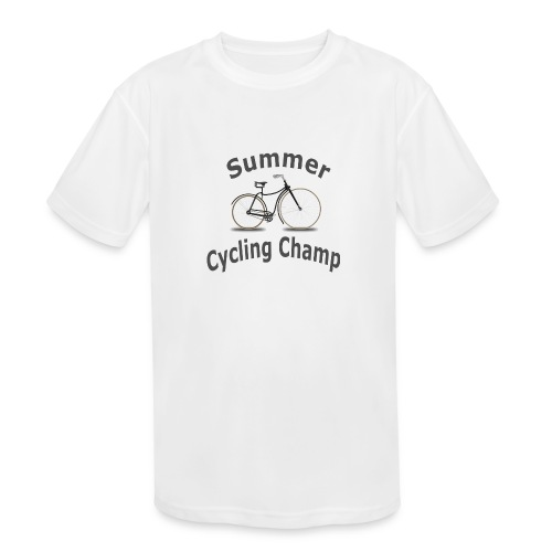 Summer Cycling Champ - Kids' Moisture Wicking Performance T-Shirt