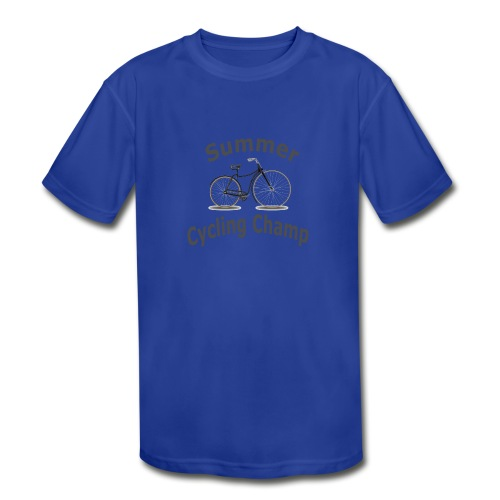 Summer Cycling Champ - Kids' Moisture Wicking Performance T-Shirt