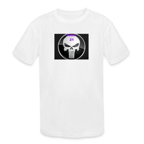 Team 21 white - Kids' Moisture Wicking Performance T-Shirt