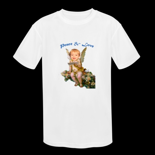 Peace and Love - Kids' Moisture Wicking Performance T-Shirt