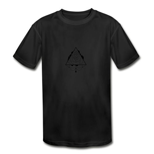 black rose - Kids' Moisture Wicking Performance T-Shirt