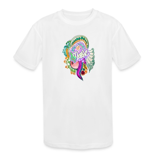 Music - Kids' Moisture Wicking Performance T-Shirt