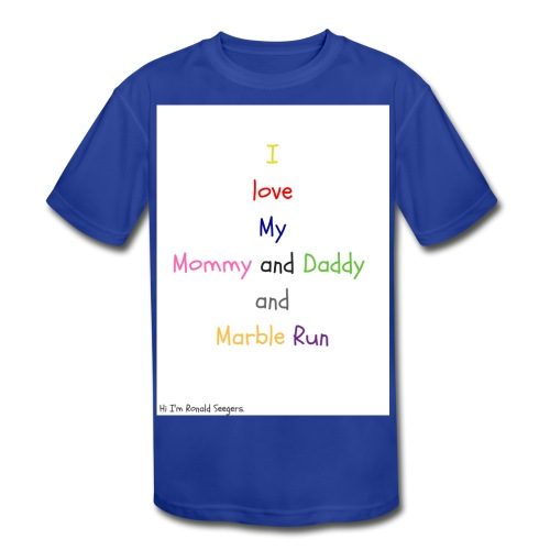 Hi I'm Ronald Seegers Collection-What I love - Kids' Moisture Wicking Performance T-Shirt