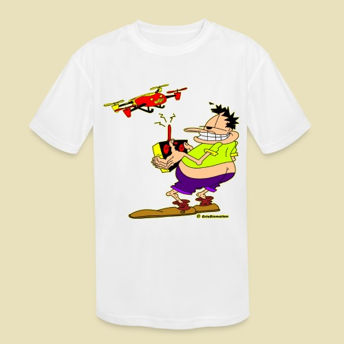 GrisDismation Ongher Droning Out Tshirt - Kids' Moisture Wicking Performance T-Shirt