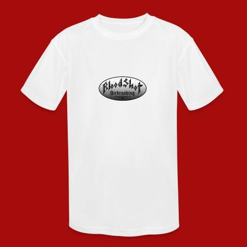 BloodShot Logo Black/White - Kids' Moisture Wicking Performance T-Shirt