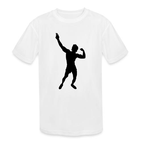 Zyzz Silhouette vector - Kids' Moisture Wicking Performance T-Shirt