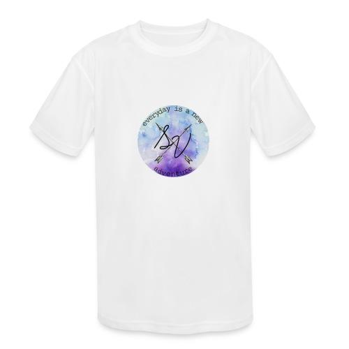 everyday is a new adventure logo - Kids' Moisture Wicking Performance T-Shirt