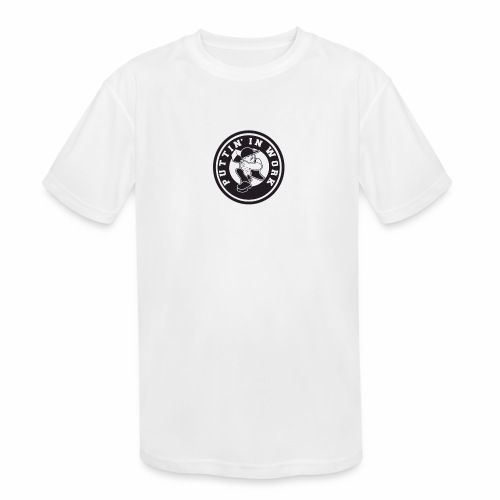 Solid Puttin' In Work Logo - Kids' Moisture Wicking Performance T-Shirt