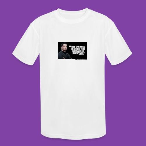 255777-Cristiano-ronaldo------quote-w - Kids' Moisture Wicking Performance T-Shirt