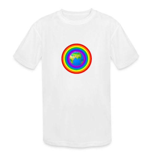 Earth rainbow protection - Kids' Moisture Wicking Performance T-Shirt